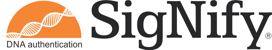 SigNify DNA authentication logo