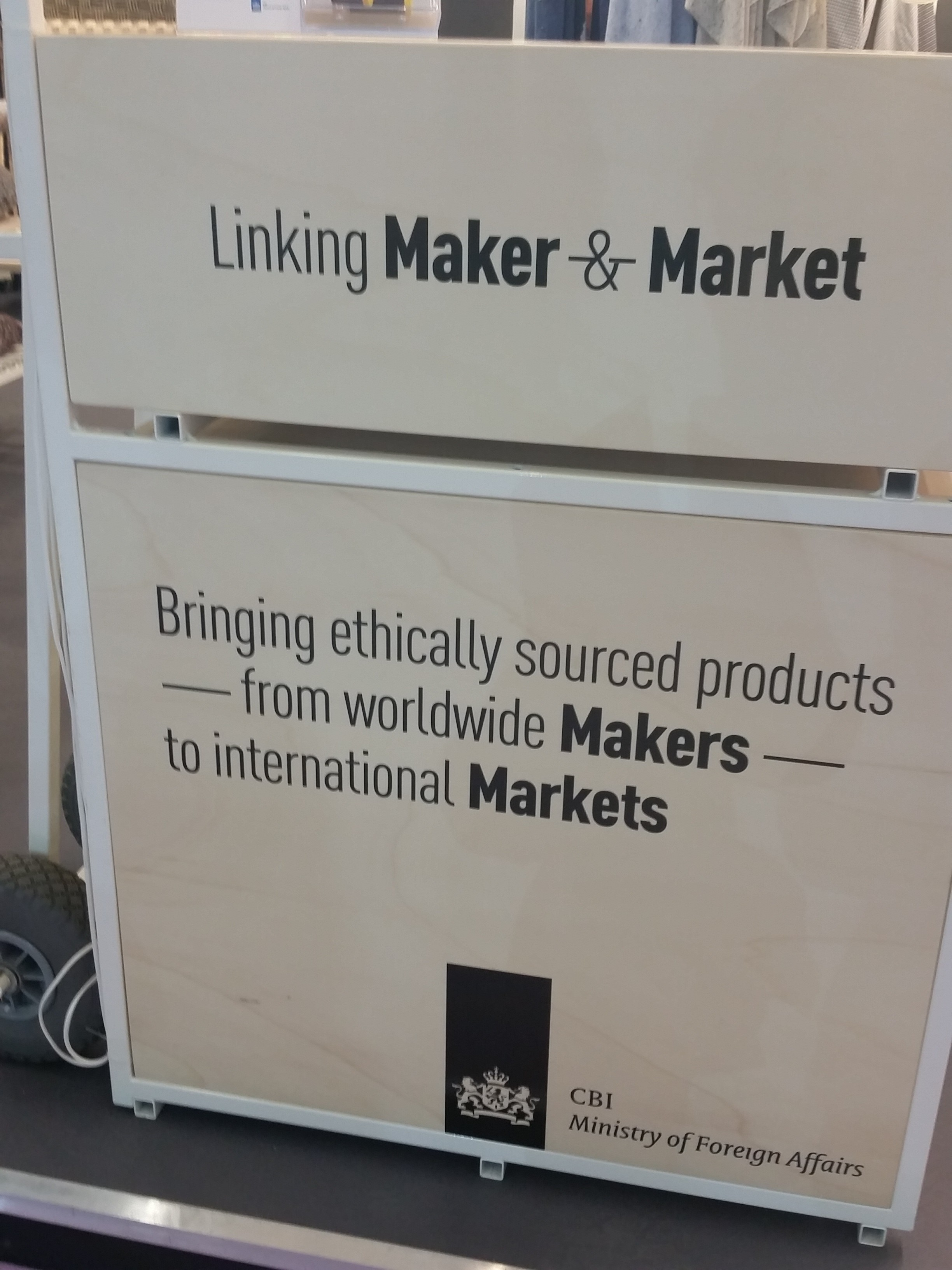 Linking Maker & Market sign at Heimtextil