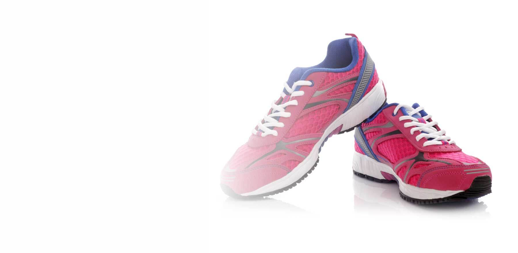 synthetic running shoes