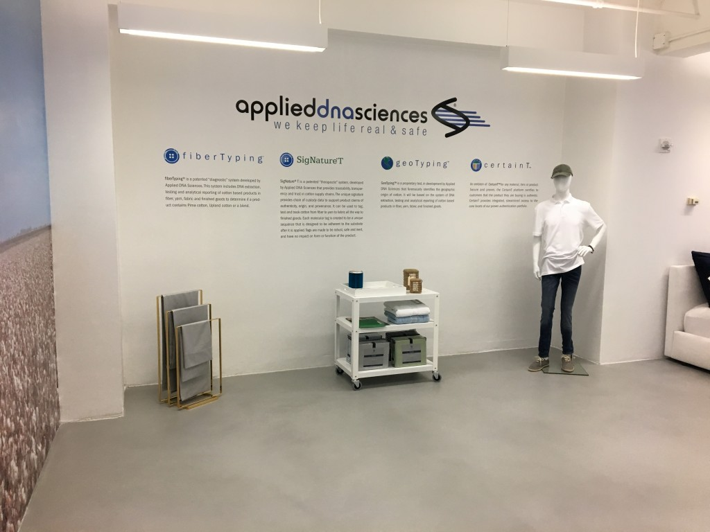 applied dna sciences display pima purity showroom