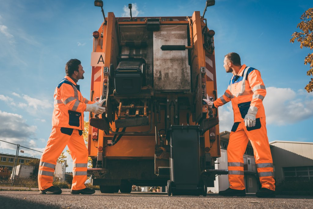 garbage collection workers